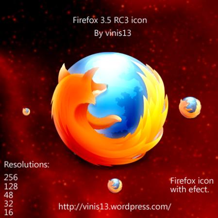 Firefox 3.5 RC4 Vivid Efect